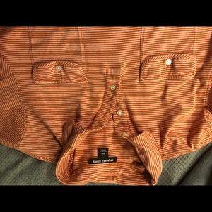 Micheal kors short sleeved 3 button dress shirt
